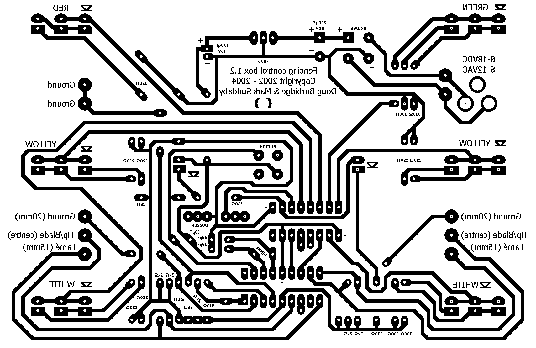 Simple Fencing Control Box Electric Fence Wire Diagram Here Is A Schematic Pcb Artwork